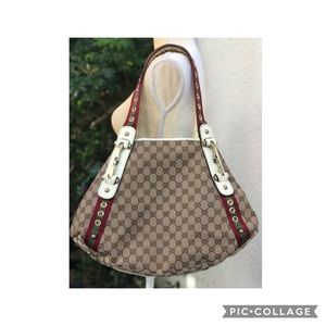Authentic Gucci Tote Bag GG  Brown
